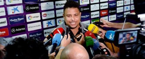 El presidente del Valladolid, Ronaldo Nazario
