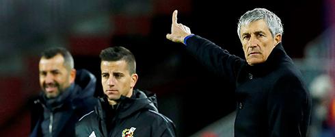 Quique Setien: VAR won the game for Barcelona