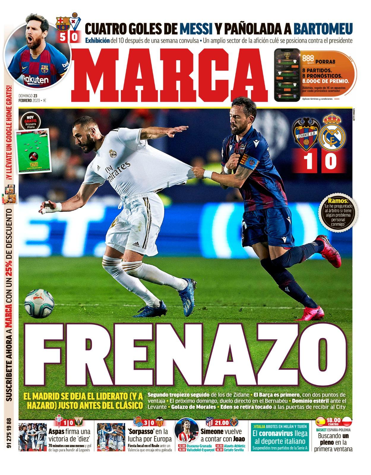 Sunday 23 February Football Espana
