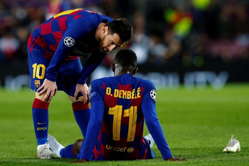 Barcelona striker Dembele returns after nine months out for Bayern clash
