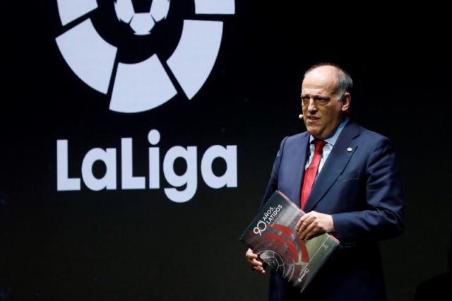 Javier Tebas, entrenador de La Liga