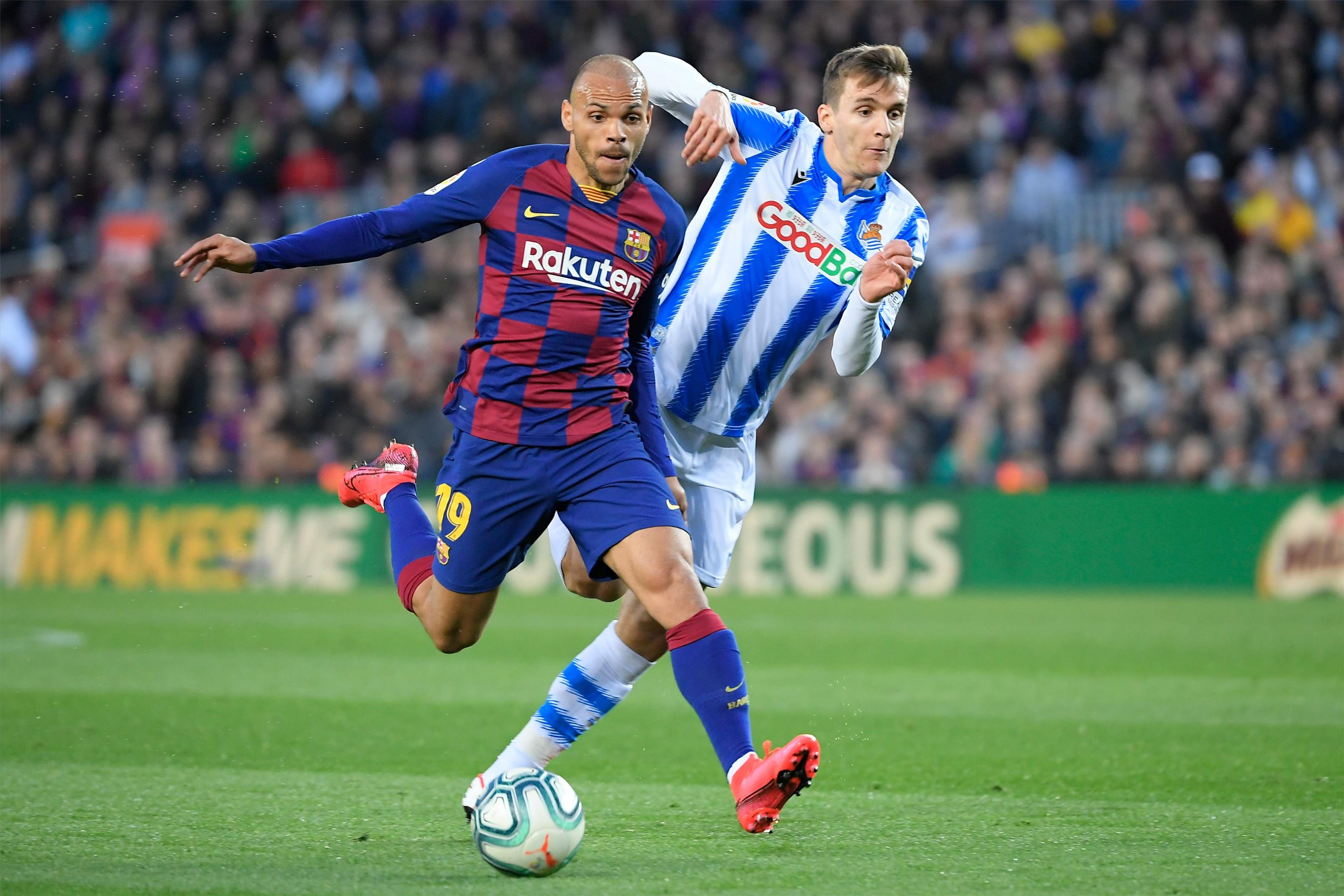 Lively but goalless first half between Barcelona and Real Sociedad