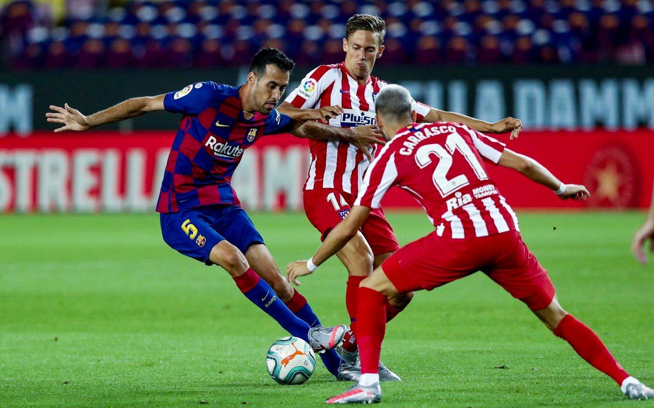 Barcelona suffer La Liga title blow in 2-2 Atletico Madrid draw