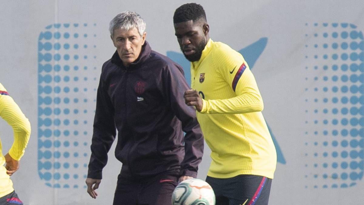 Samuel Umtiti returns to full training to give Quique Setien boost ahead of La Liga restart