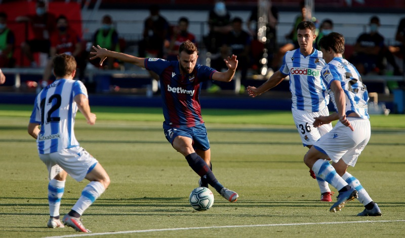 La Liga: Real Sociedad's Champions League hopes all but over after draw at Levante