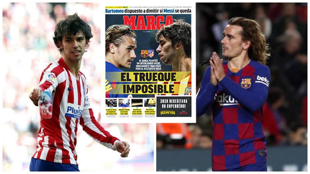 Atletico Madrid reject Barcelona swap deal of Griezmann for Joao Felix