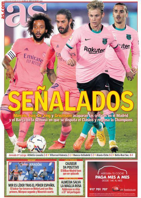 Today's Spanish Papers: Real Madrid and Barcelona face issues ...