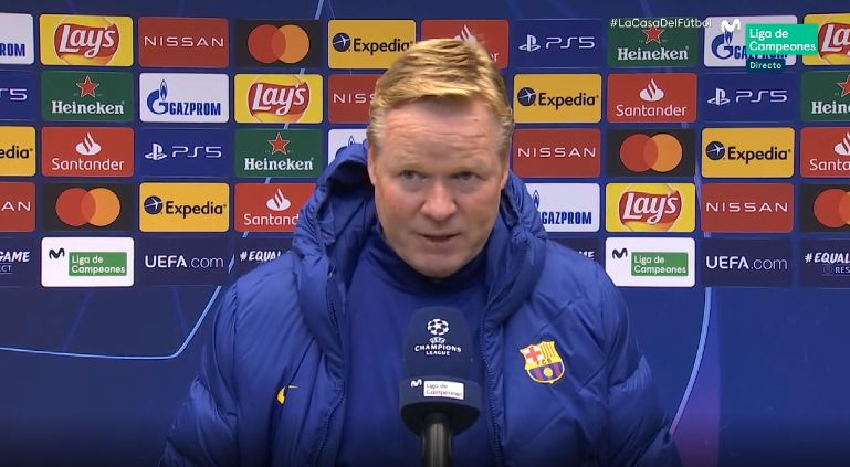 Barcelona boss Ronald Koeman is angry with team and individual performances  - Football Espana