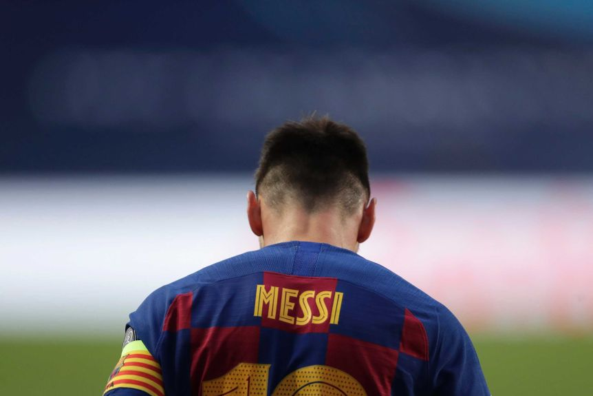 Lionel Messi shows his other face during extra-time