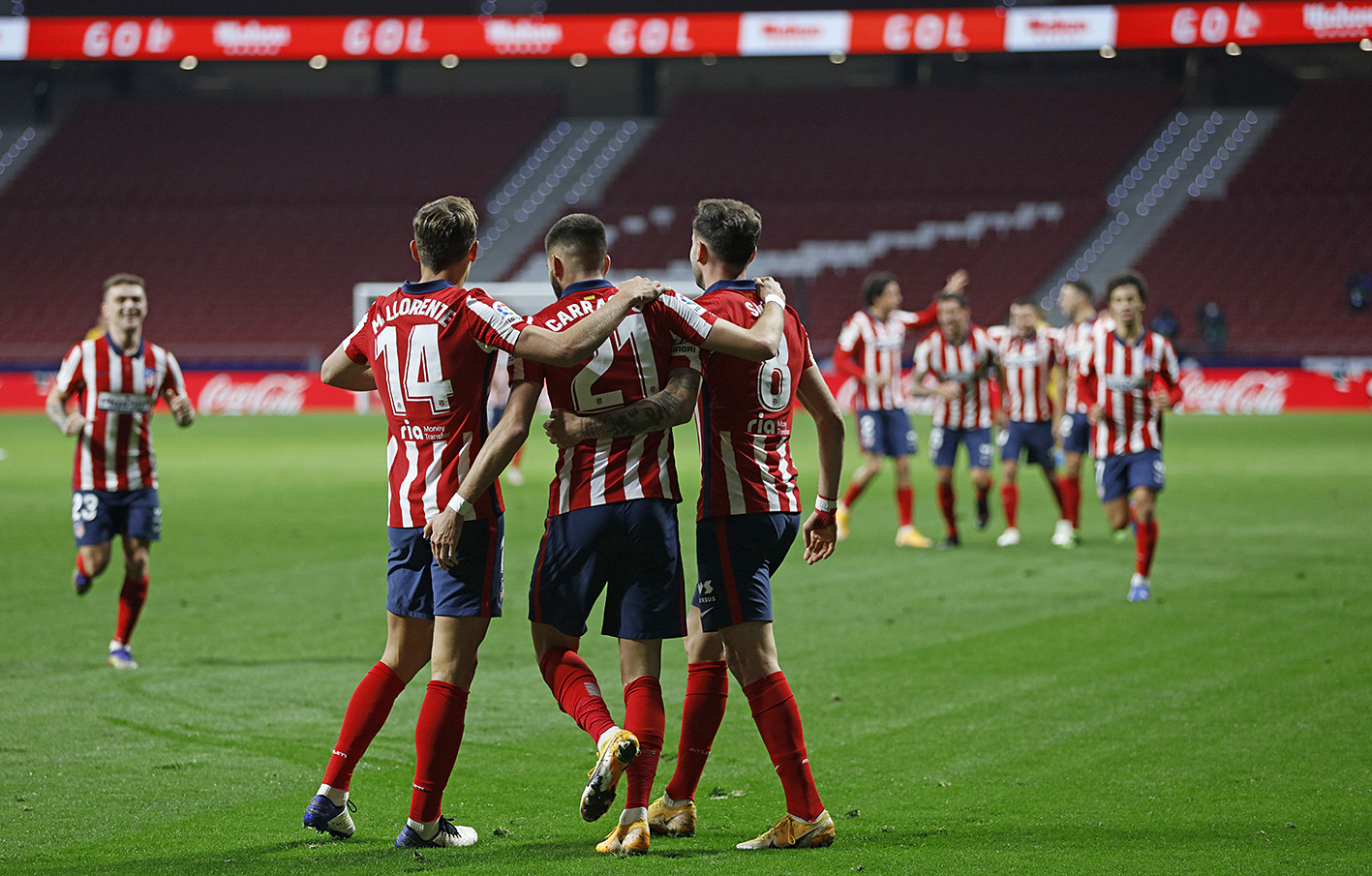 Atletico Madrid surprised by the Barcelona put in front of them