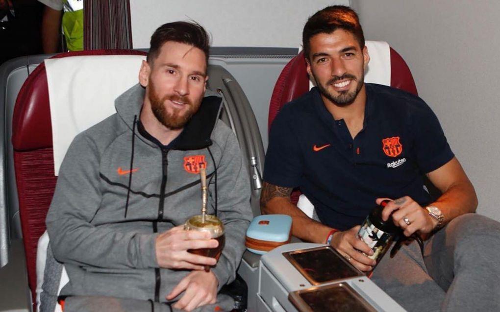 Messi and Luis Suarez Bromance
