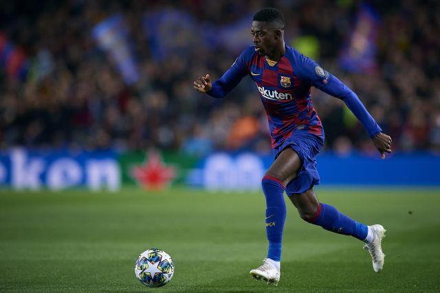 El delantero del Barcelona Ousmane Dembele
