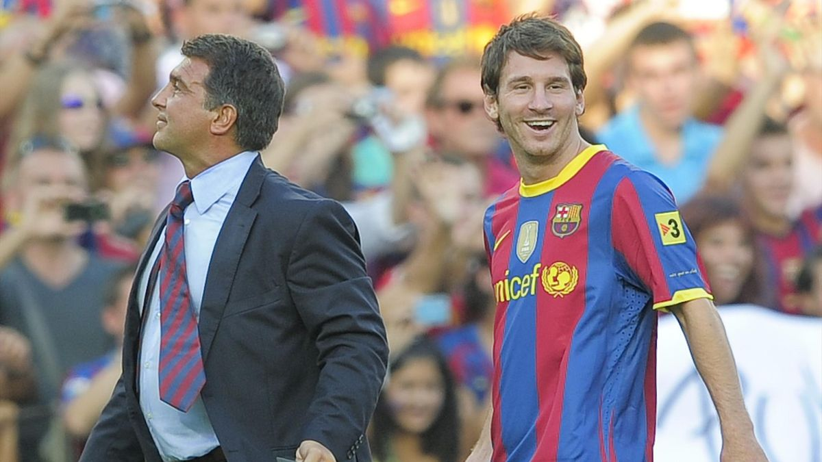 Joan Laporta responds to Neymar's comments about Lionel Messi - Football  Espana
