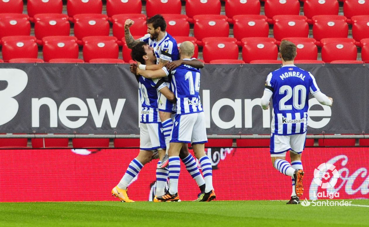 Real Sociedad end winless run with Basque Derby victory at San Mames