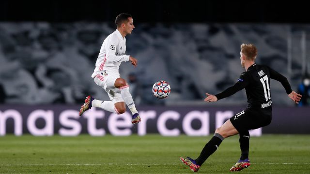 Real Madrid player Lucas Vazquez