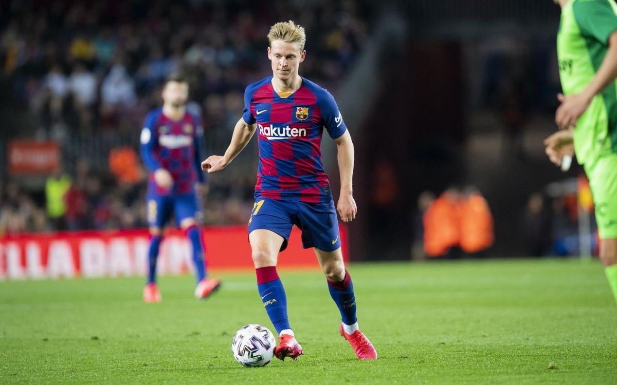 Frenkie de Jong beginning to find his groove at Barcelona