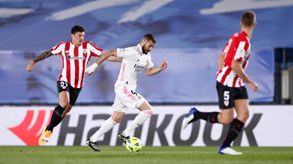 Watch: Karim Benzema strikes the crossbar for Real Madrid against Getafe
