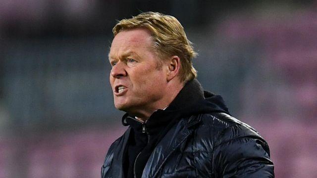 El técnico del Barcelona, Ronald Koeman