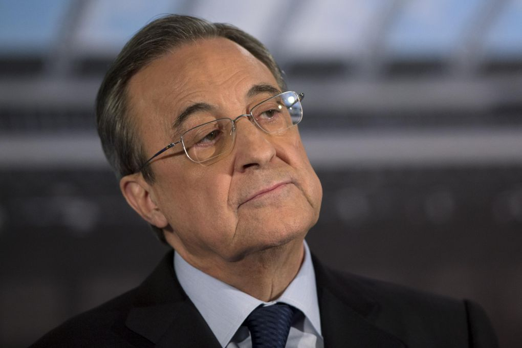 Florentino Perez was late for an interview with Spanish radio because he was locked in discussions with the remaining Superleague clubs
