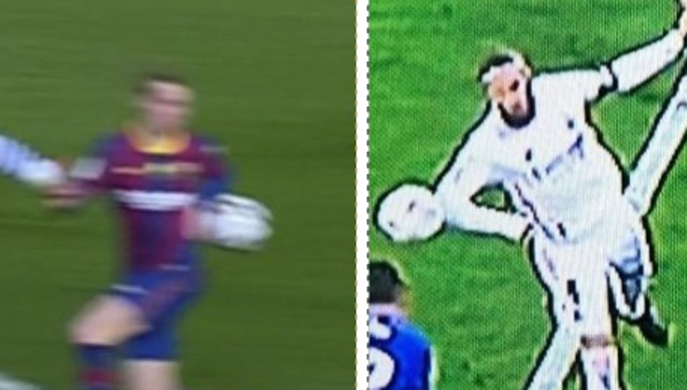 Same referee, different result for Barcelona and Madrid