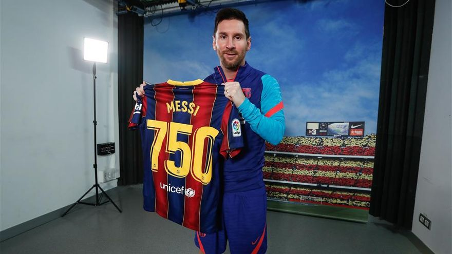"""Lionel Messi: """"It's a pride to have reached this number of ..."""