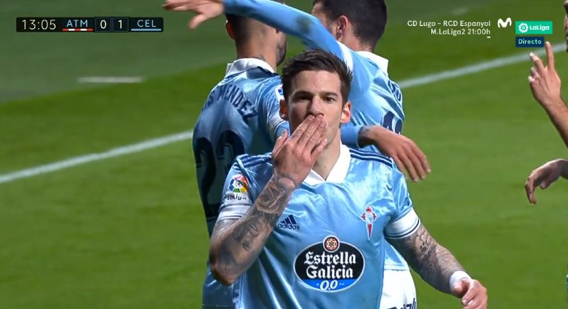 WATCH: Santi Mina puts Celta Vigo in front at Atletico Madrid