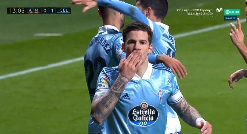 LOOK: Santi Mina puts Celta Vigo ahead of Atletico Madrid