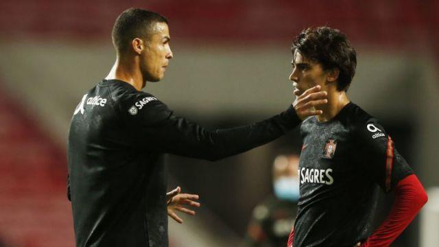 Cristiano Ronaldo y Joao Felix