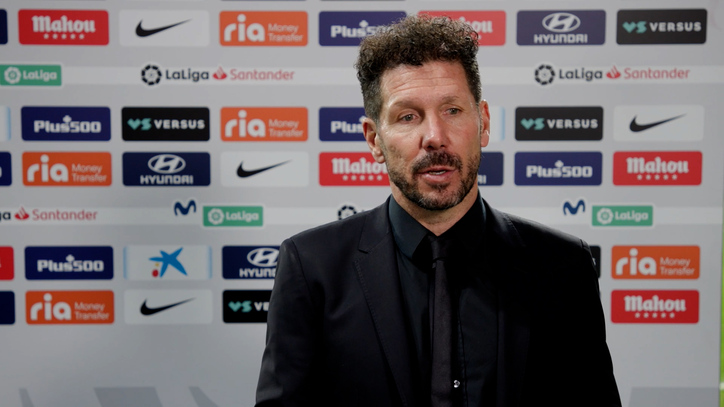 """Diego Simeone stresses the collective strength of Atletico Madrid: """"Two footballers alone don't change a game"""""""