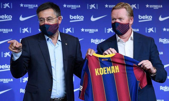 Josep Maria Bartomeu and Ronald Koeman