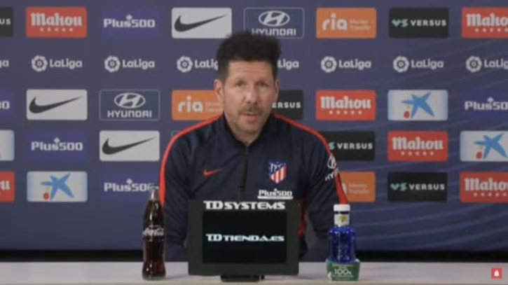 """Diego Simeone: """"We continue in the same line always"""""""