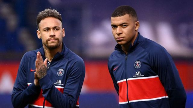 Neymar y Kylian Mbappé