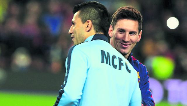 Sergio Agüero y Lionel Messi