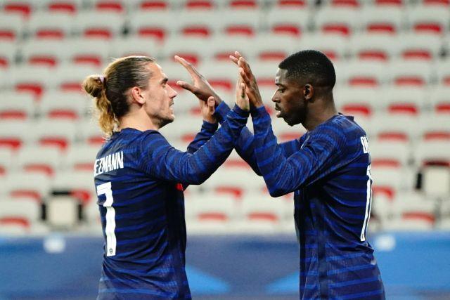 Antoine Griezmann y Ousmane Dembele