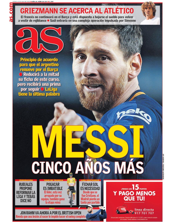 Diario AS 15.7.2021   Últimas Noticias Futbol Mundial