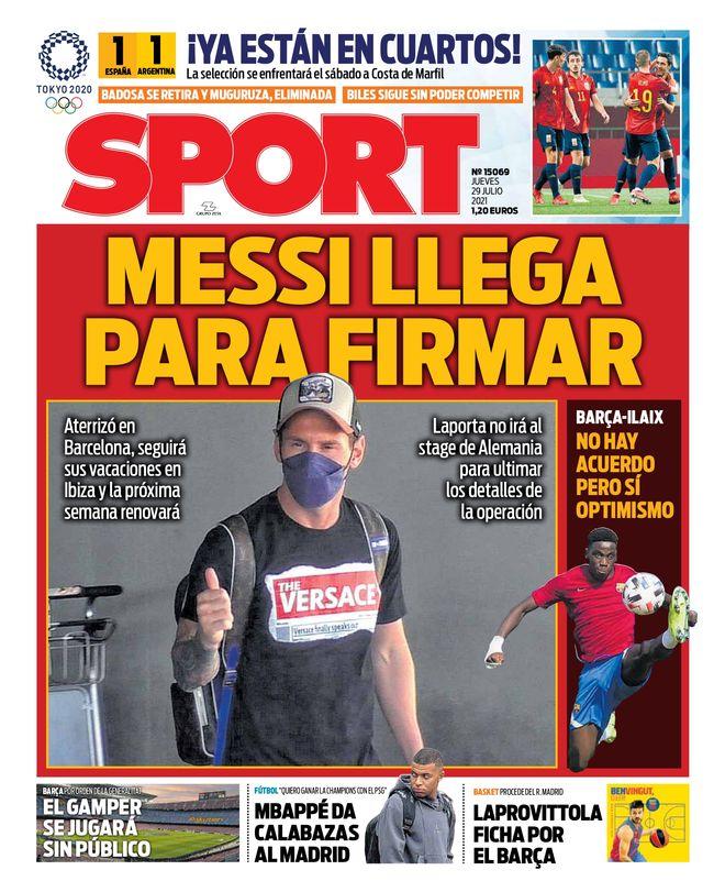 Diario Sport 29.7.2021 | Últimas Noticias Futbol Mundial