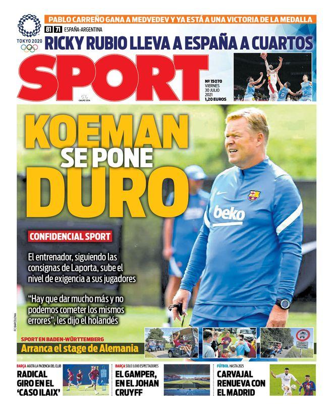 Diario Sport 30.7.2021 | Últimas Noticias Futbol Mundial