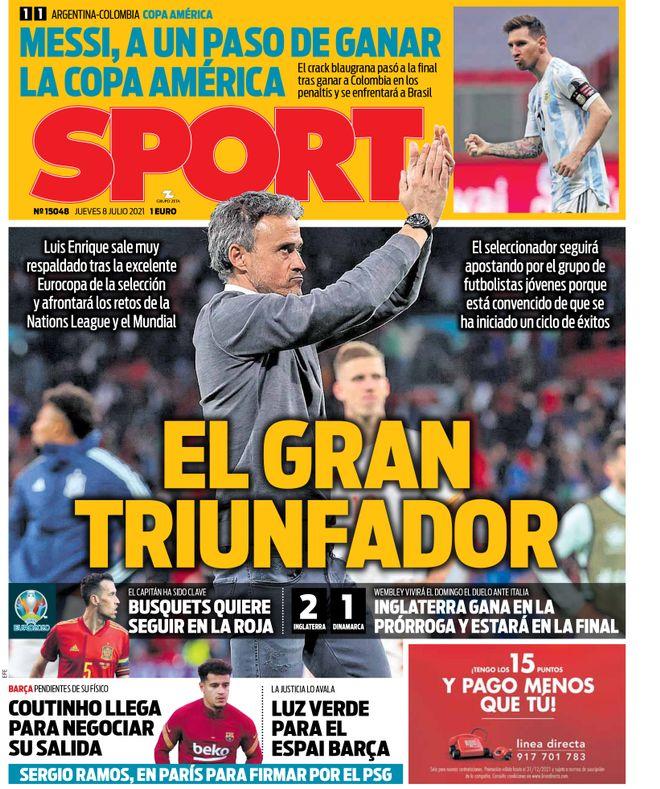 Diario Sport 8.7.2021   Últimas Noticias Futbol Mundial