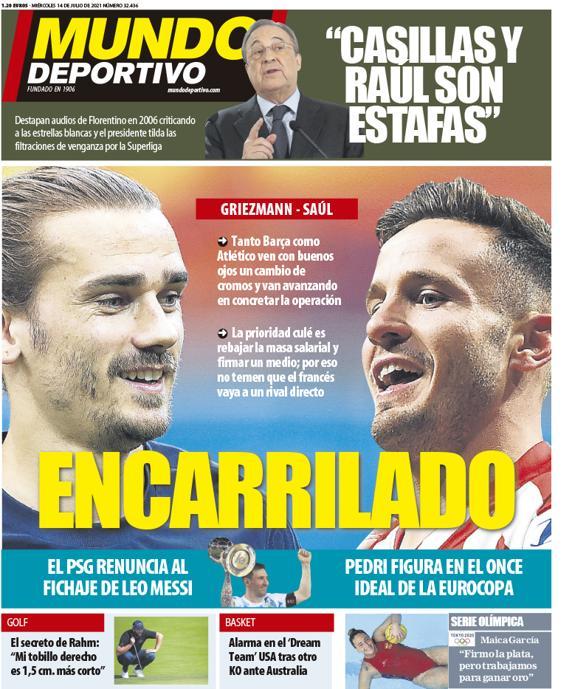 Mundo Deportivo 14.7.2021 | Últimas Noticias Futbol Mundial