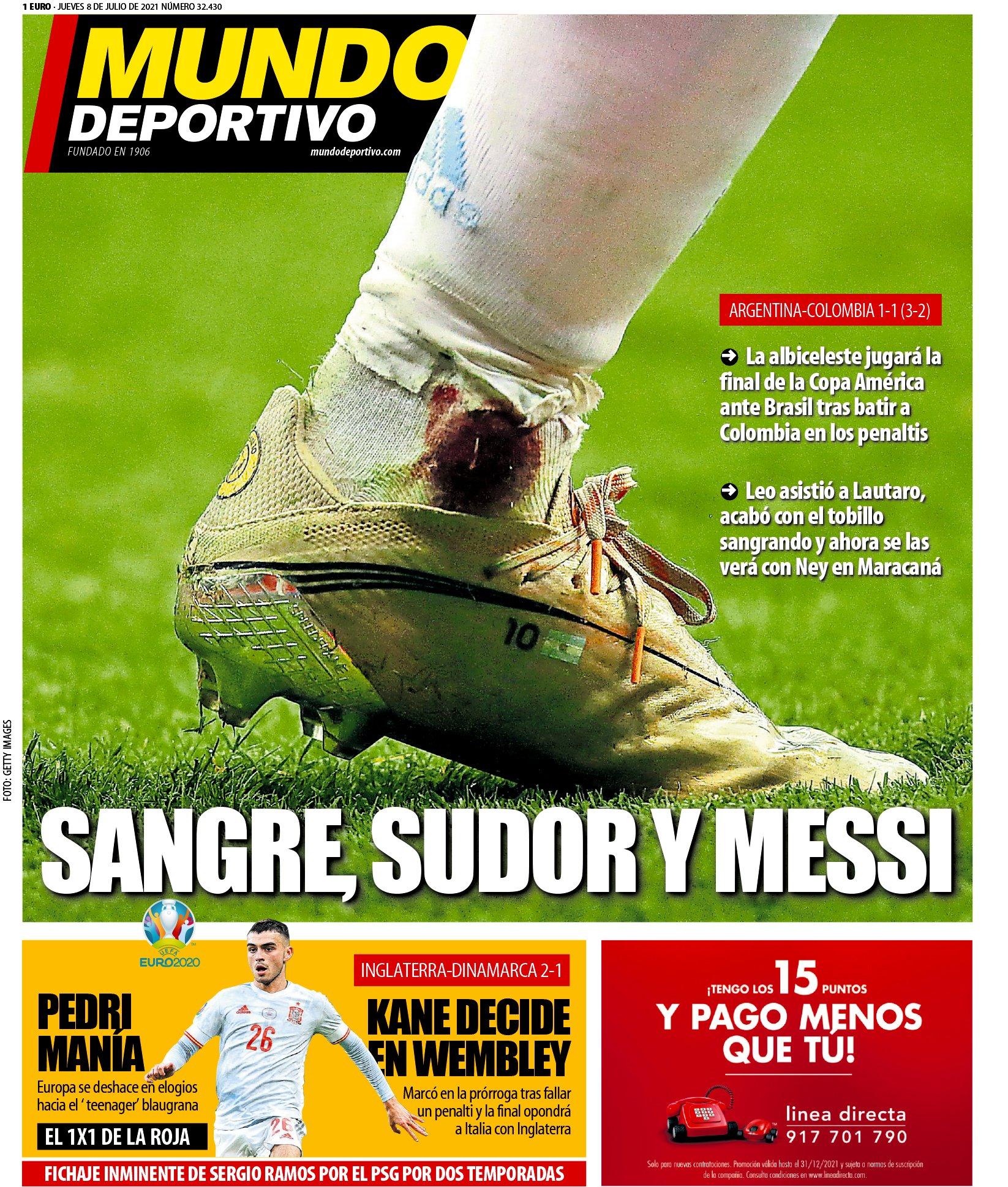 Mundo Deportivo 8.7.2021   Últimas Noticias Futbol Mundial