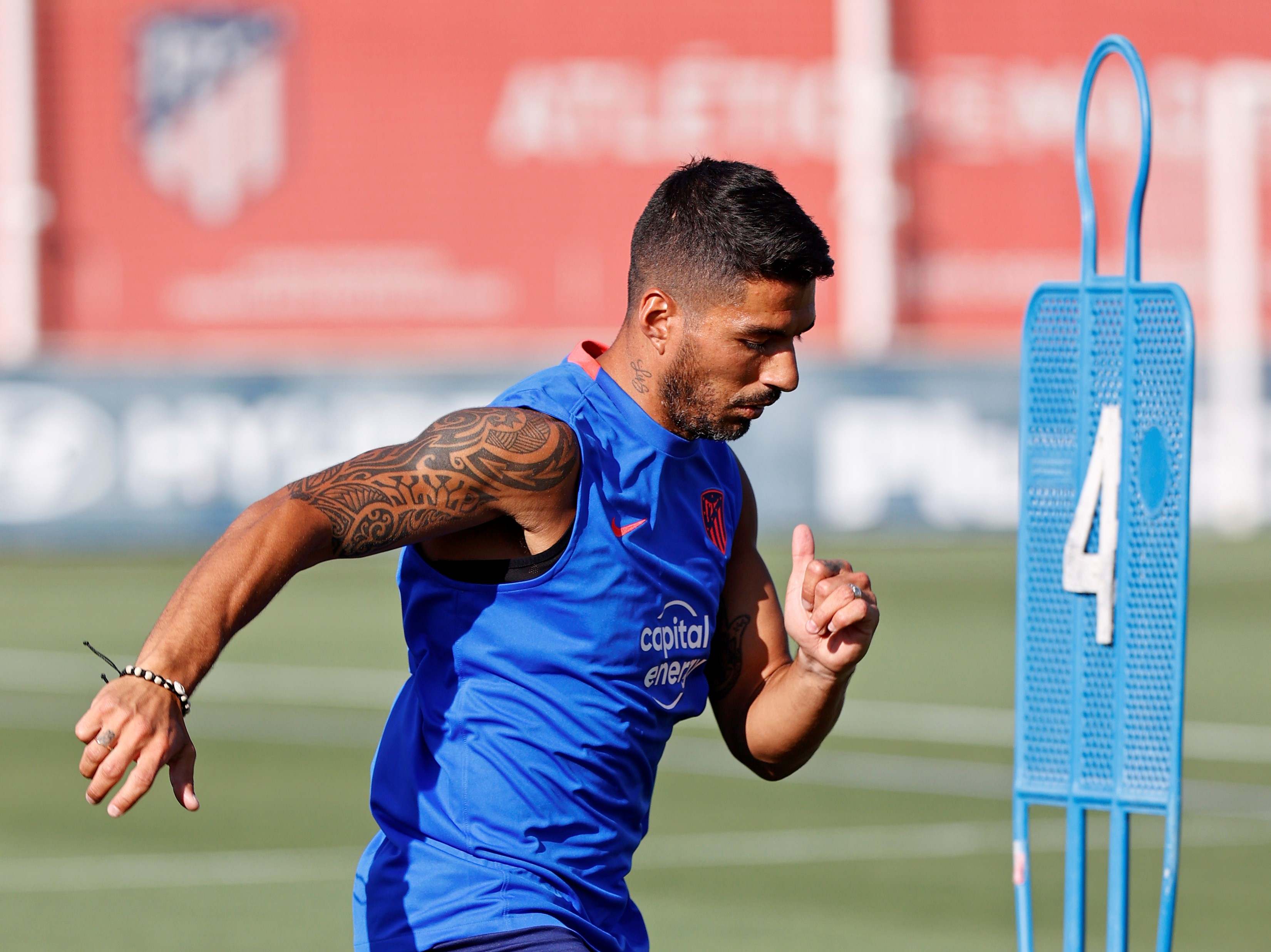 The best images as Luis Suarez and Kieran Trippier return to Atletico Madrid training