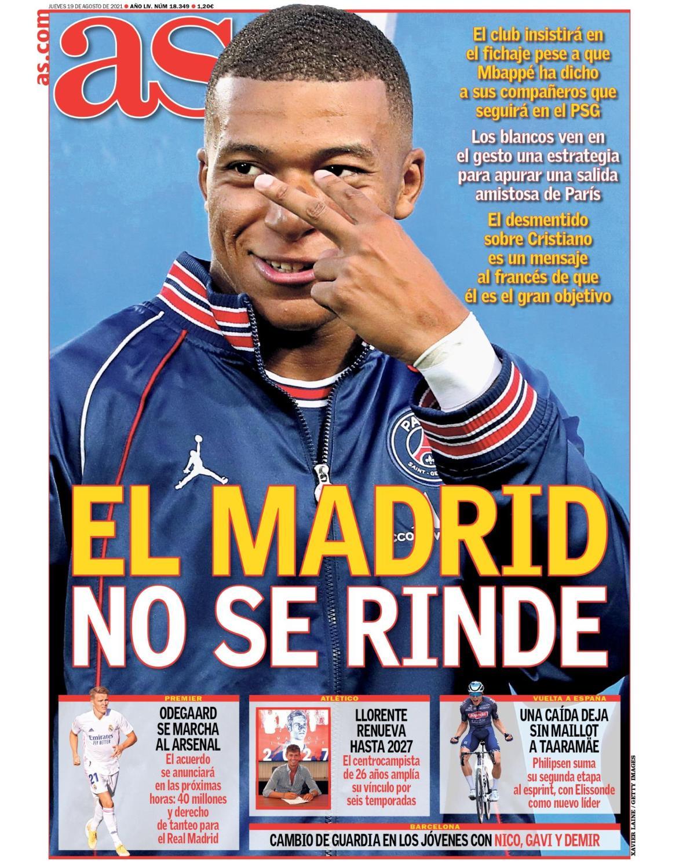 Diario AS 19.8.2021   Últimas Noticias Futbol Mundial