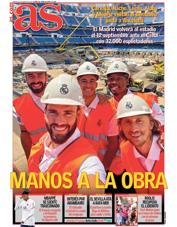 Diario AS 20.8.2021   Últimas Noticias Futbol Mundial