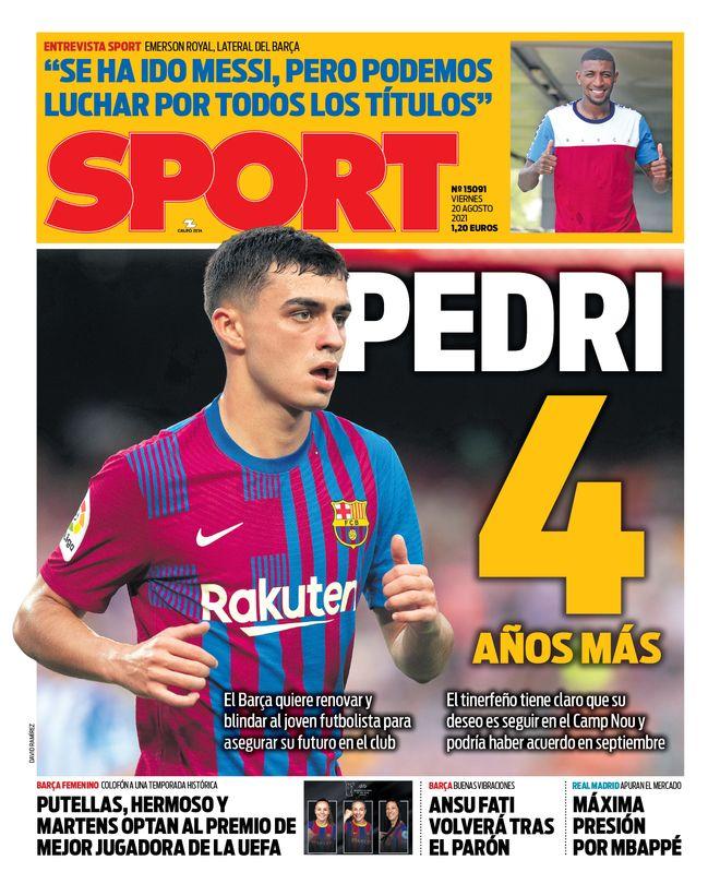 Diario Sport 20.8.2021   Últimas Noticias Futbol Mundial