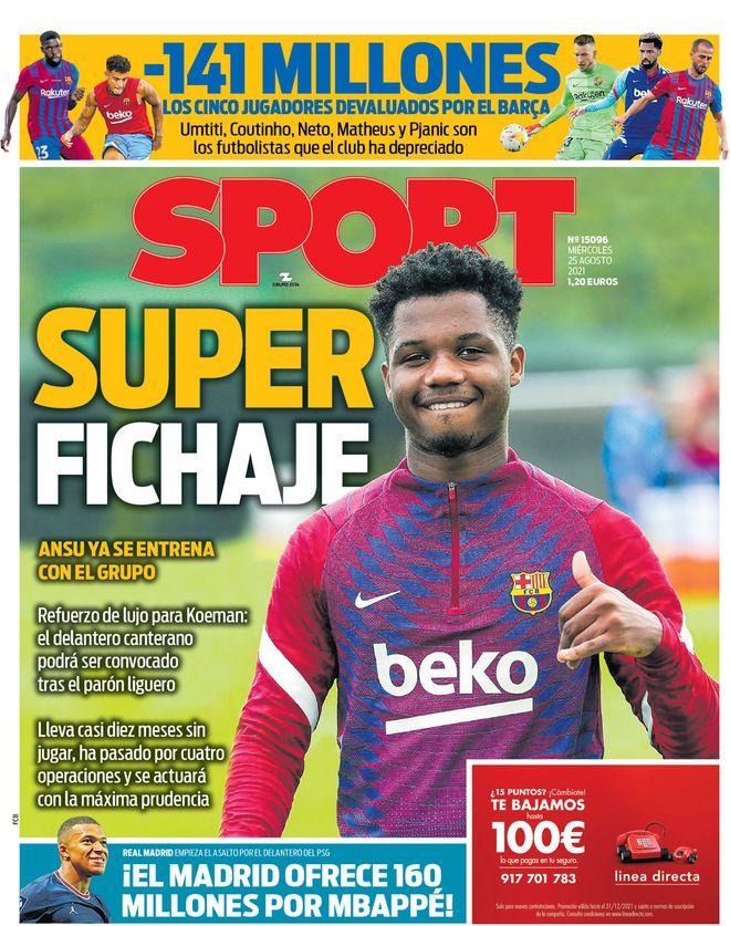 Diario Sport 24.8.2021 | Últimas Noticias Futbol Mundial