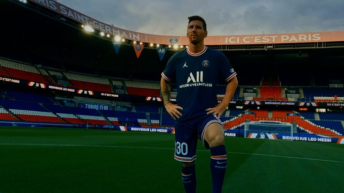 Watch: Paris Saint-Germain officially unveil their latest signing, Lionel Messi, in dramatic video