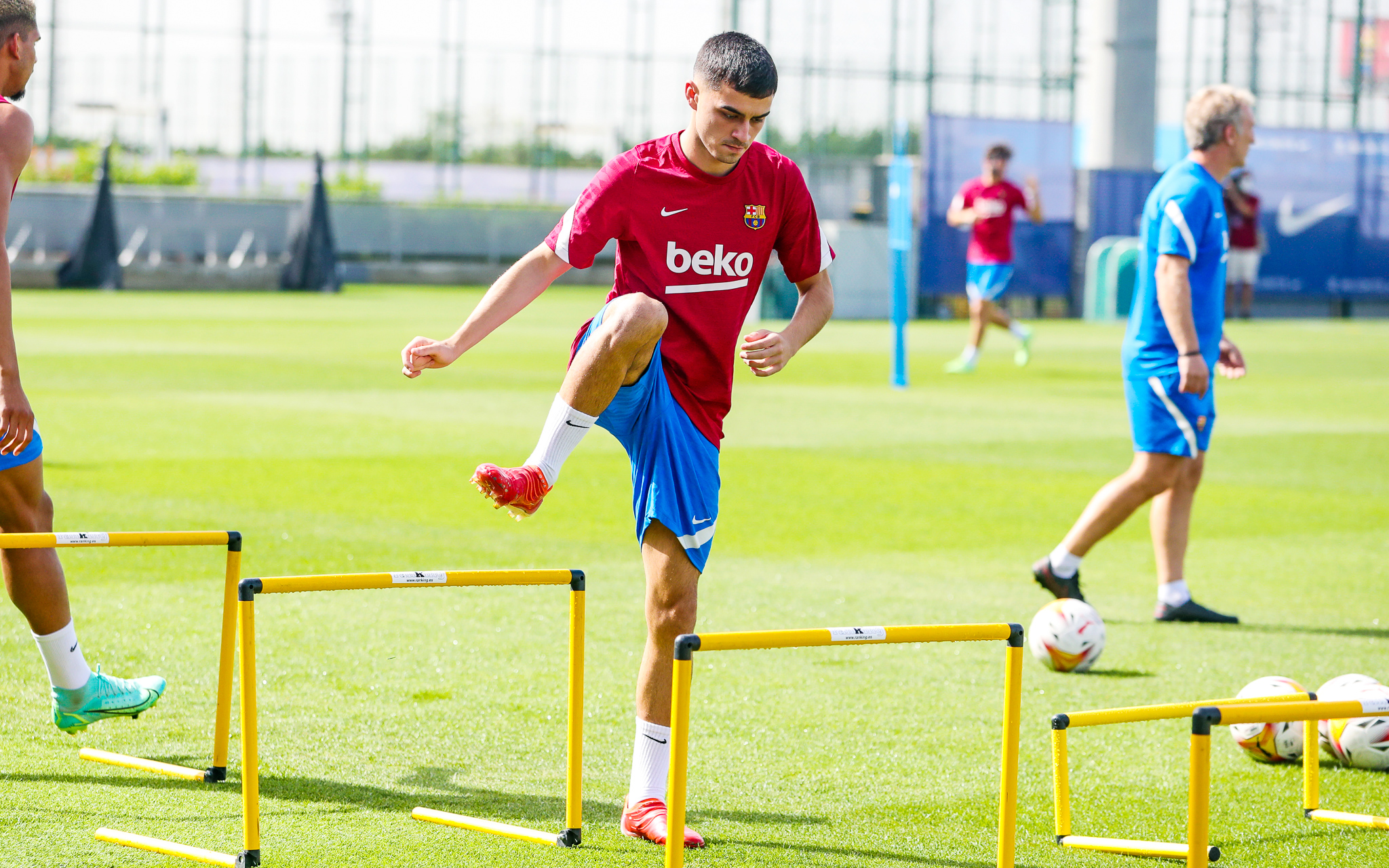 Pedri returns to Barcelona training just five days after La Roja lose Olympic Games final to Brazil