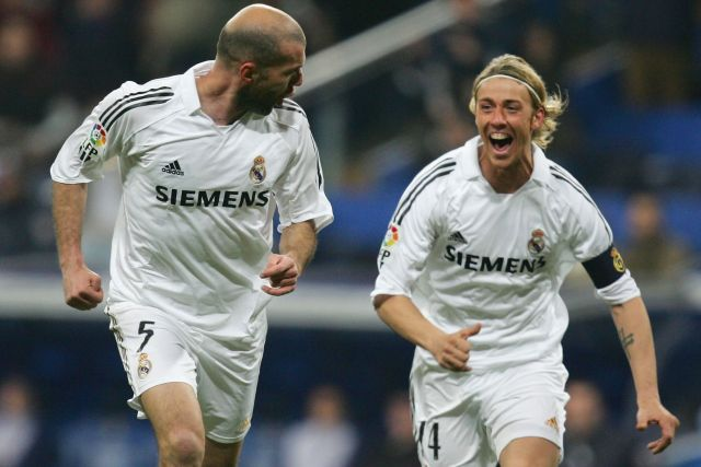 Zinedine Zidane y Guti