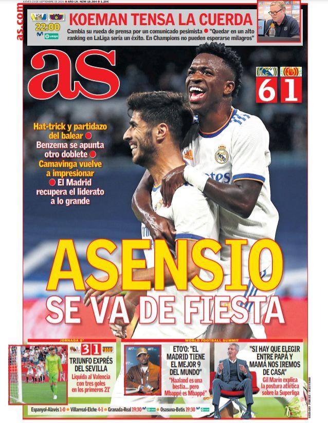 Diario AS 23.9.2021 | Últimas Noticias Futbol Mundial