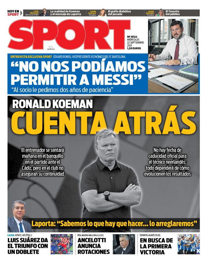 Diario Sport 21.9.2021 | Últimas Noticias Futbol Mundial